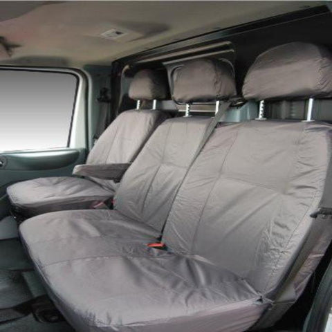 Fiat Scudo Fully Tailored Waterproof Front Single and Double Set Seat Covers 2007 - 2012 Heavy Duty Right Hand Drive Grey- INK-WSC-5508