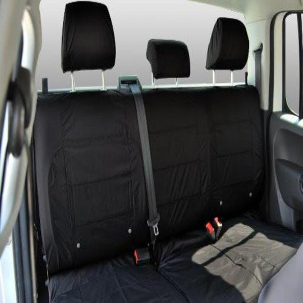 Ford Ranger Fully Tailored Waterproof Rear Second Row Triple Set Seat Covers 2009-2011 Heavy Duty Right Hand Drive Black