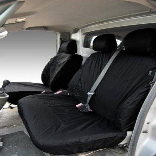 Renault Trafic Fully Tailored Waterproof Front Set Seat Covers 2001 onwards Heavy Duty Right Hand Drive Black