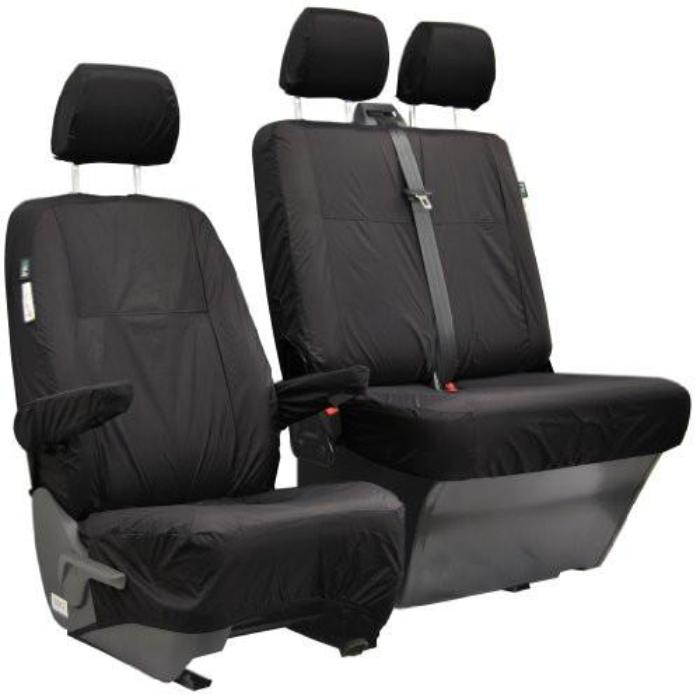 Jeep Compass Fully Tailored Waterproof Rear Second Row Single & Double Set Seat Covers 2011 Onwards Heavy Duty Right Hand Drive Black