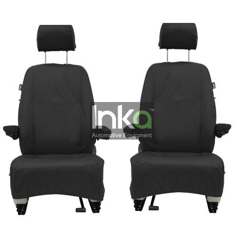 Nissan NV200 Panel Van Fully Tailored Waterproof Front Set Seat Covers 2009-2012 Heavy Duty Right Hand Drive Black