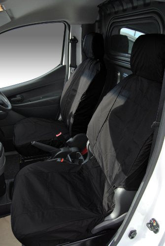 Nissan NV200 Panel Van Fully Tailored Waterproof Rear Set Seat Covers 2009-2012 Heavy Duty Right Hand Drive Black