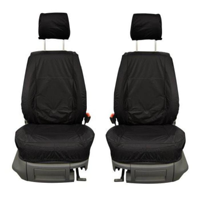 Fiat Doblo Fully Tailored Waterproof Front Single Set Seat Covers 2000 - 2009 Heavy Duty Right Hand Drive Black
