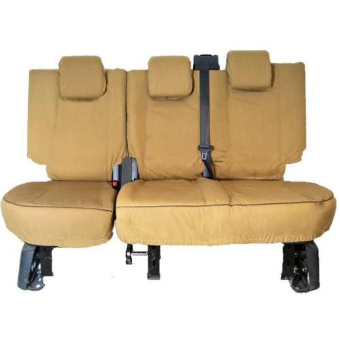 Land Rover Discovery 2 Fully Tailored Inka Heavy Duty Trail Canvas Rear Set Tough Seat Covers 1998 - 2004 Right Hand Drive