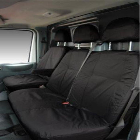 Fiat Scudo Fully Tailored Waterproof Front Single and Double Set Seat Covers 2007 - 2012 Heavy Duty Right Hand Drive Black