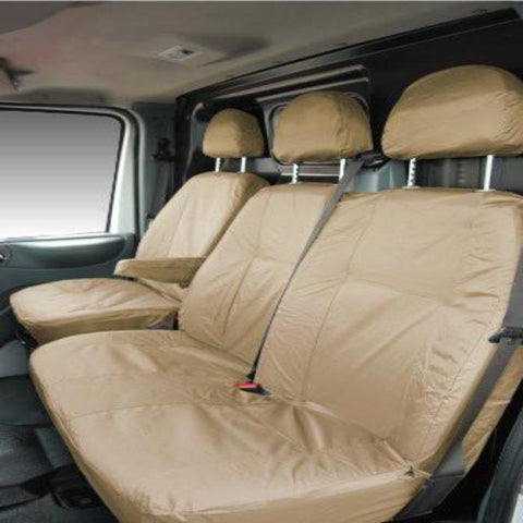Fiat Scudo Fully Tailored Waterproof Front Single and Double Set Seat Covers 2007 - 2012 Heavy Duty Right Hand Drive Beige- INK-WSC-5507