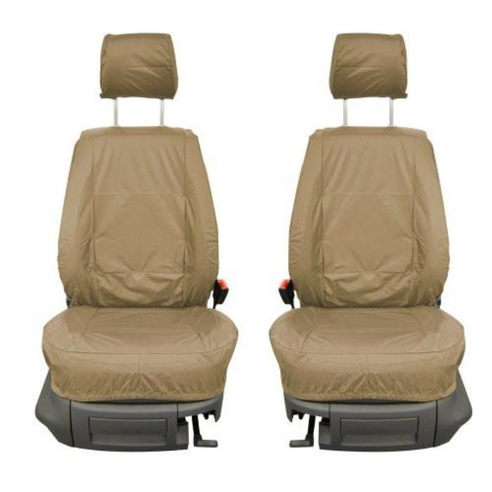 Fiat Doblo Fully Tailored Waterproof Front Single Set Seat Covers 2000 - 2009 Heavy Duty Right Hand Drive Beige