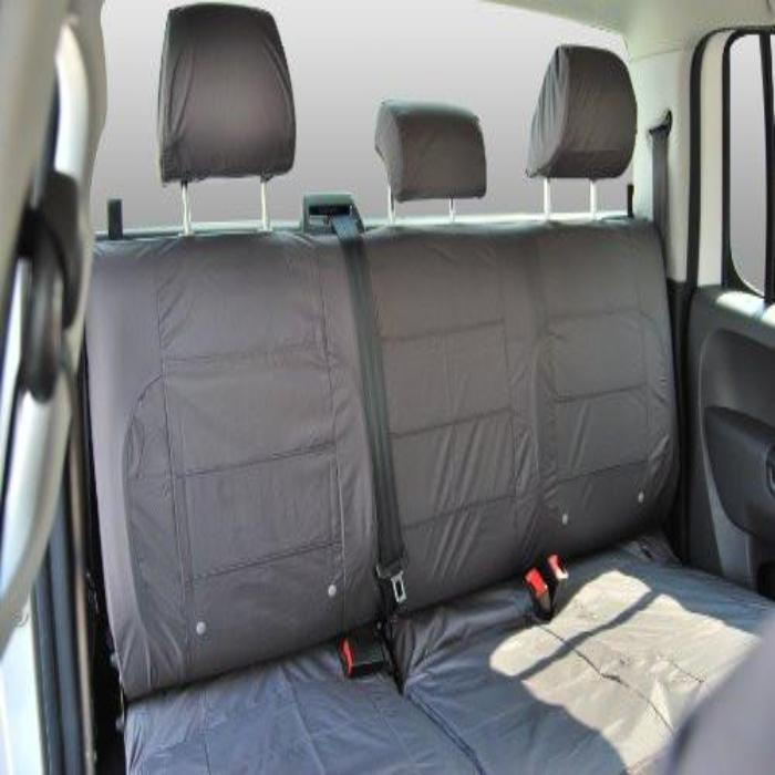 Ford Ranger Fully Tailored Waterproof Rear Second Row Triple Set Seat Cover 2009-2011 Heavy Duty Right Hand Drive Grey