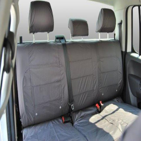 Nissan Micra Fully Tailored Waterproof Rear Second Row Triple Set Seat Covers 2007-2010 Heavy Duty Right Hand Drive Grey