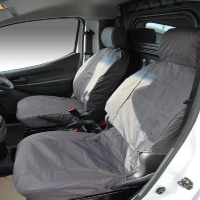 Nissan NV200 RHD 3rd Row Tailored Waterproof Seat Covers Two Single Seats 2010 Onwards in Grey