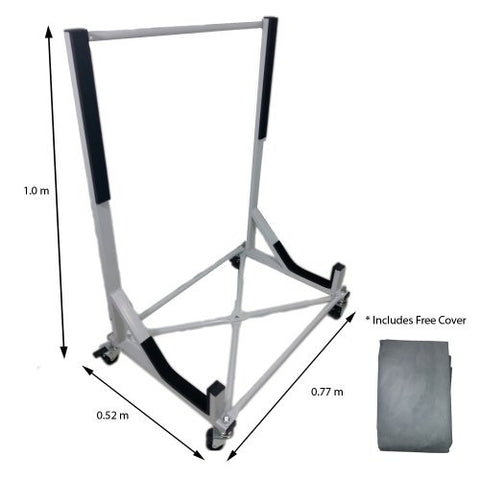 Convertible Hardtop Storage Steel Trolley Stand For Mercedes W129 With Free Cover