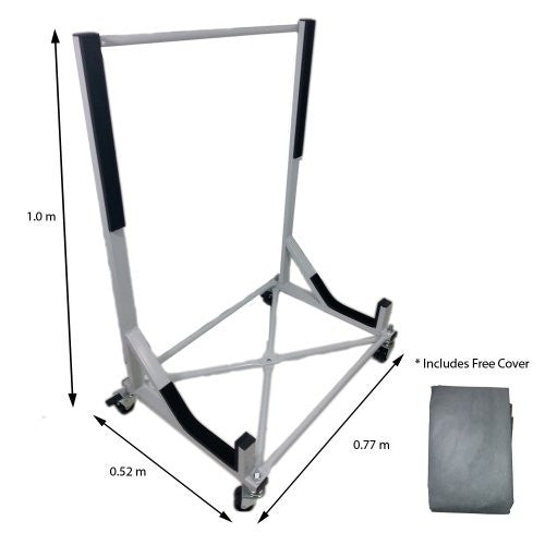 Convertible Hardtop Storage Steel Trolley Stand For Mercedes Benz SL107 With Free Cover