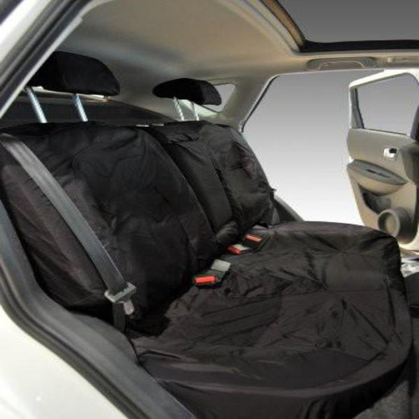 Nissan Qashqai Fully Tailored Waterproof 2nd Row Rear Set Seat Covers 2010 Onwards Heavy Duty Right Hand Drive Black