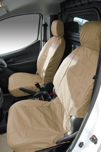 Nissan NV200 Fully Tailored Waterproof Second Row Set Seat Covers 2009-2012 Heavy Duty Right Hand Drive Beige