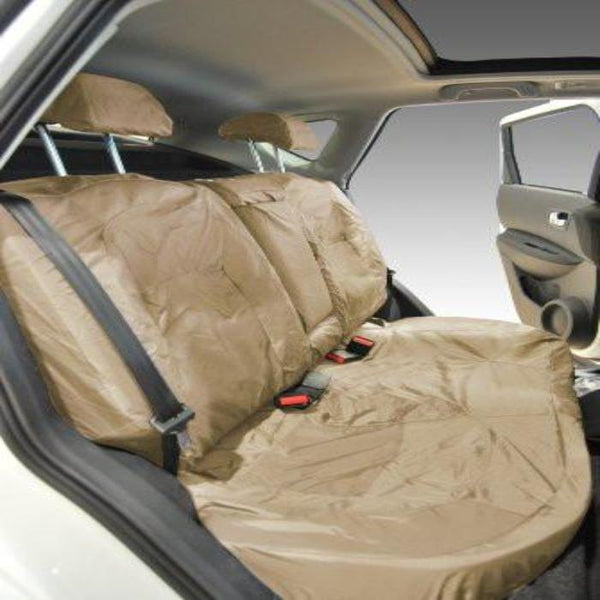 Nissan Qashqai Tekna Tailored Waterproof Second Row Set Seat Covers 2010 Onwards Heavy Duty Right Hand Drive Beige