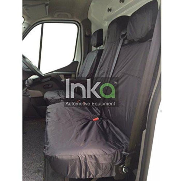 Fiat Ducato Fully Tailored Waterproof Front Single Set Seat Covers 2010 Onwards Heavy Duty Right Hand Drive Beige