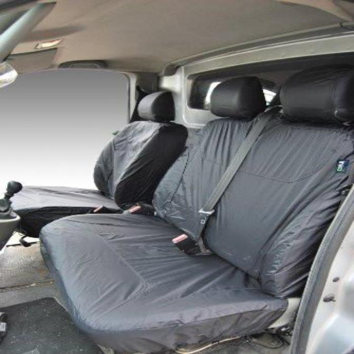 Renault Traffic Panel Van Tailored Waterproof Front Row Set Seat Covers 2003 Onwards Heavy Duty Right hand Drive Grey