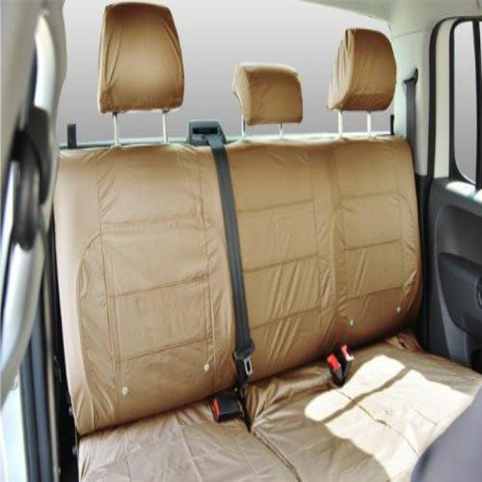 Ford Ranger Fully Tailored Waterproof Rear Triple Set Seat Cover 2009-2011 Heavy Duty Right Hand Drive Beige