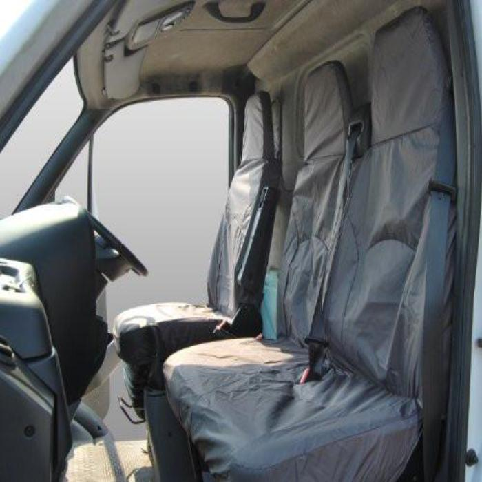 LDV Maxus Fully Tailored Waterproof Front Single and Double Set Seat Covers 2004 - 2014 Heavy Duty Right Hand Drive Grey