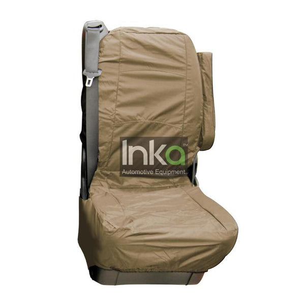 Mercedes Vito Fully Tailored Inka Waterproof Rear Second Row Single Set Seat Cover 2003-2014 Heavy Duty Right Hand Drive Beige- INK-WSC-4550