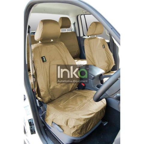 Ford Ranger Fully Tailored Waterproof Front Row Set Seat Covers 2009-2011 Heavy Duty Right Hand Drive Beige- INK-WSC-7059