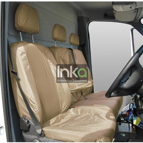 Mercedes Sprinter Inka 1st Row Front Fully Tailored Waterproof Seat Covers Beige INK-WSC-4705