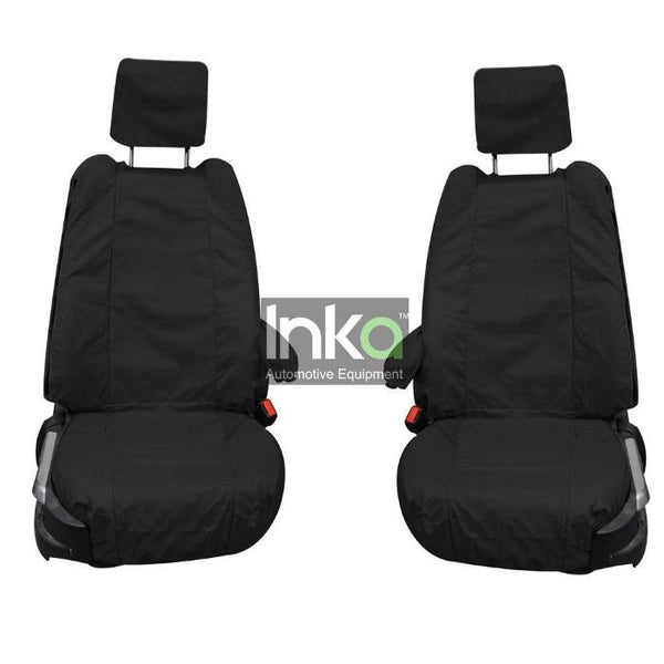 Land Rover Range Rover Fully Tailored Inka Waterproof Front Single Set Seat Covers 2002-2012 Heavy Duty Right Hand Drive Black- INK-WSC-8001