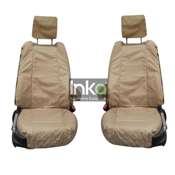 Range Rover Fully Tailored Waterproof Front Single Set Seat Covers 2002-2012 Heavy Duty Right Hand Drive Beige