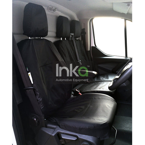 Ford Transit Custom Front Inka Tailored Waterproof Seat Cover Black