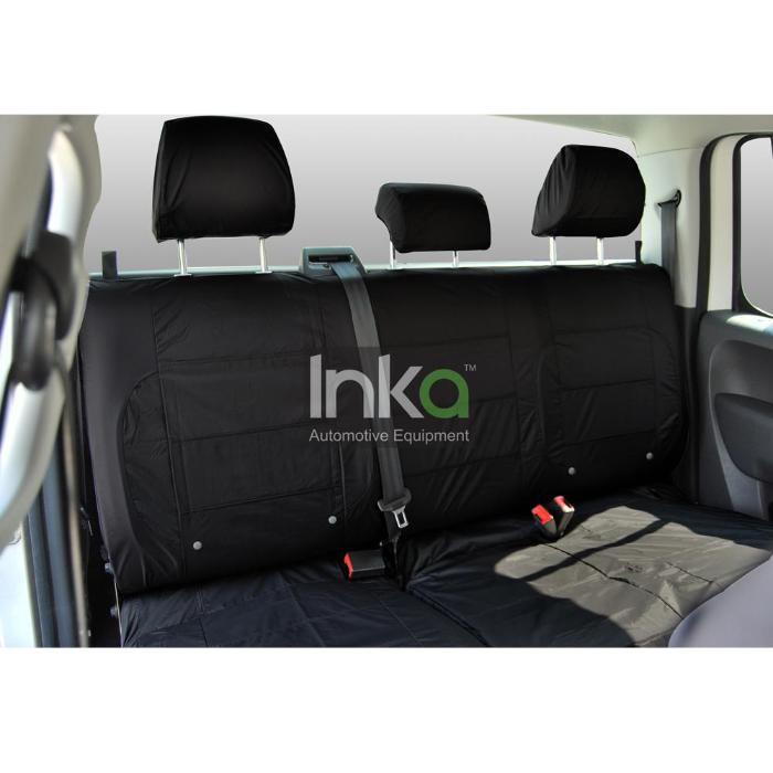 SEAT Toledo Taxi Inka Rear Seat Covers 60/40 Waterproof Black