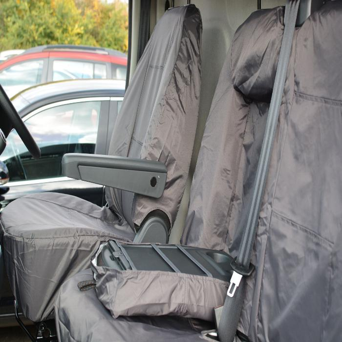 Citreon Relay Fully Tailored Inka Waterproof Front Single & Double Seat Covers 2006 - 2016 Heavy Duty Right Hand Drive Grey - INK-WSC-6002