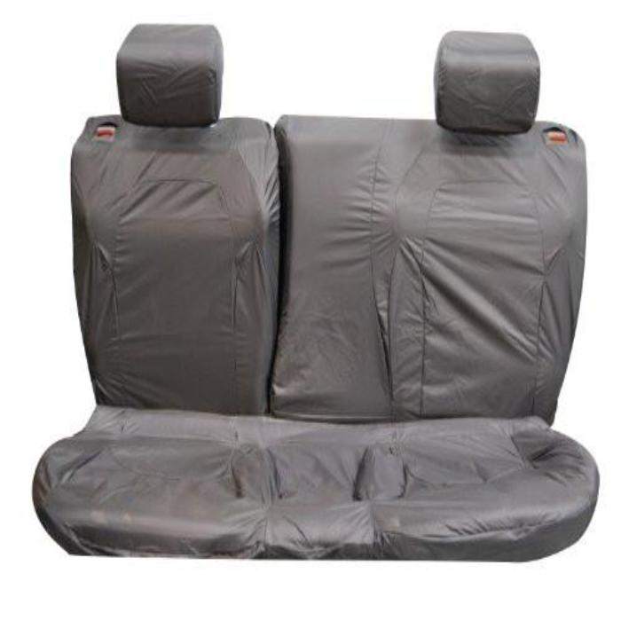 Range Rover Evoque 3DR Fully Tailored Waterproof Second Row Set Seat Covers 2011 Onwards Heavy Duty Right Hand Drive Grey