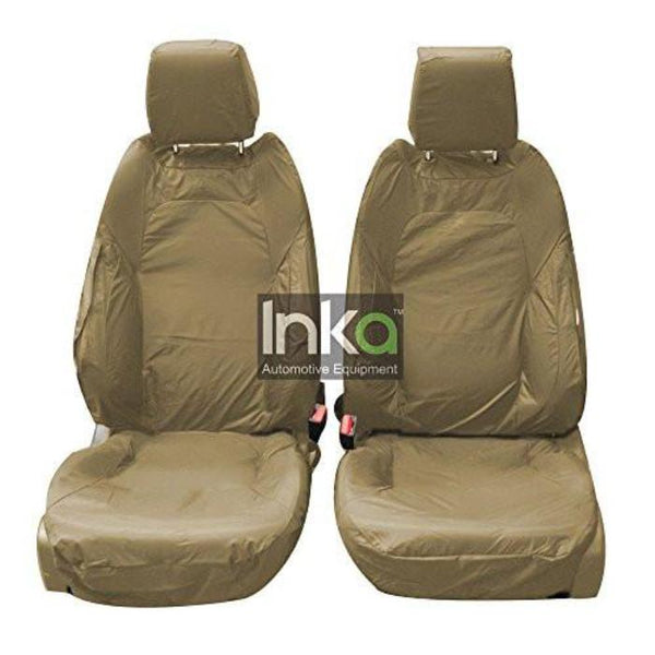 Range Rover Evoque 3-Door 2010 - 2015 Tailored Waterproof Seat Covers, Front Driver and Single Passenger with DVD headrests in BEIGE
