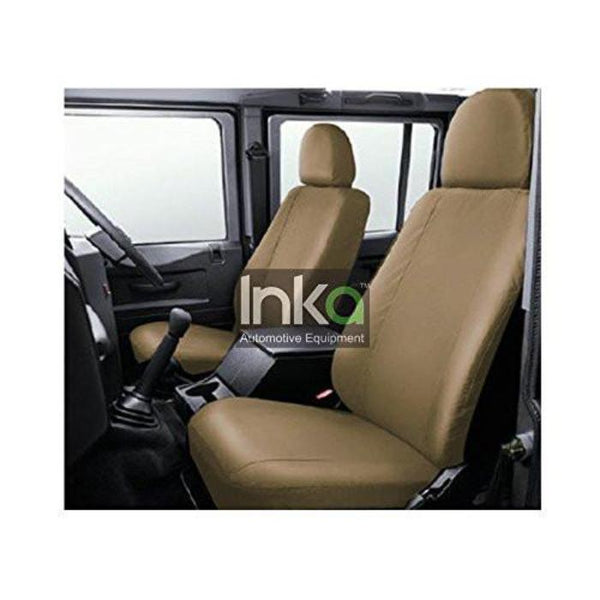 Inka Land Rover Defender 90 110 130 Beige Waterproof Tailored Front Seat Covers
