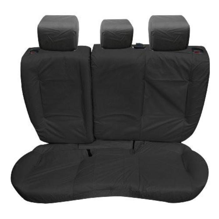 Range Rover Evoque 5 Door Tailored Waterproof Rear Set Seat Covers 2011-2013 Heavy Duty Right Hand Drive Black