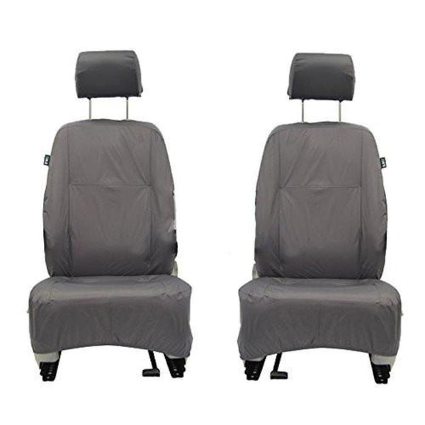 Skoda Superb Fully Tailored Waterproof Front Row Single Set Seat Covers 2013 Onwards Heavy Duty Right Hand Drive Grey - INK-WSC-8076