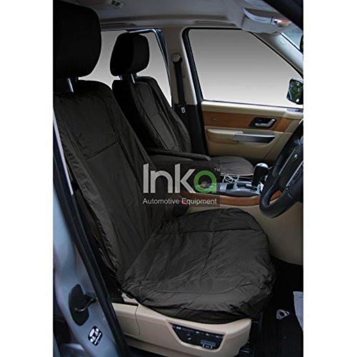 Range Rover Sport Front Inka Fully Tailored Waterproof Seat Cover Black with Armrest and DVD Headrest