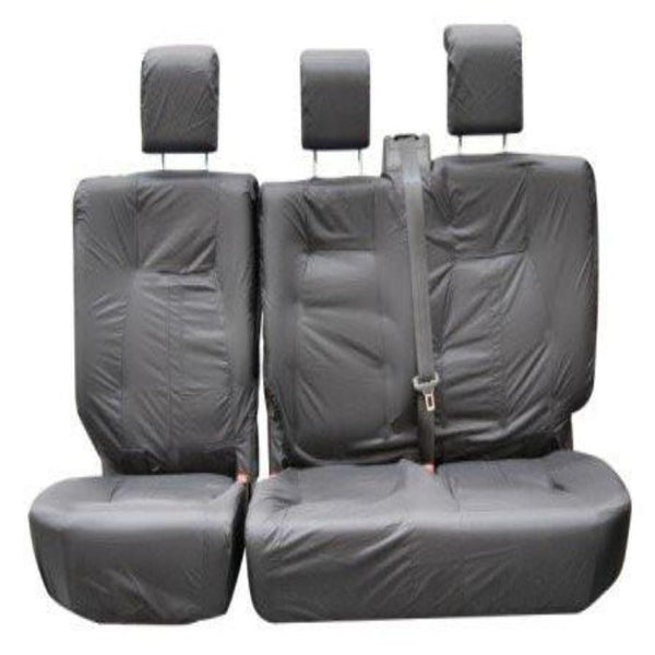 DISCOVERY 2 98-04 FRONT GREY HEAVY DUTY PAIR CAR SEAT COVER SET