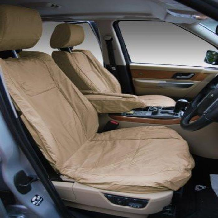 Range Rover Sport Fully Tailored Waterproof Front Single Set Seat Covers 2005-2009 Heavy Duty Right Hand Drive Beige
