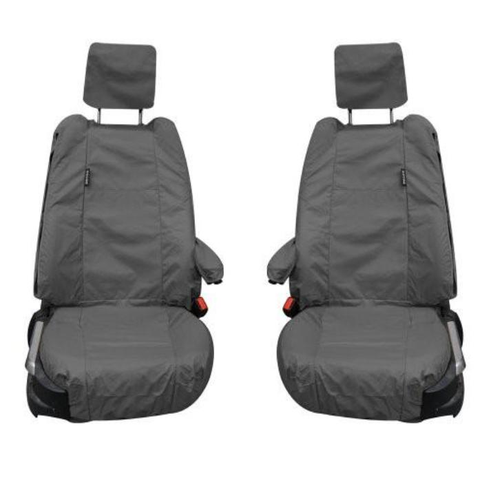 Range Rover Fully Tailored Inka Waterproof Front Set Seat Covers 2002-2012 Heavy Duty Right Hand Drive Grey