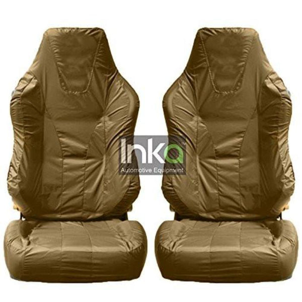 Recaro Sportster Fully Tailored Inka Waterproof Front Single Set Seat Covers 2001 - 2015 Heavy Duty Right Hand Drive Beige