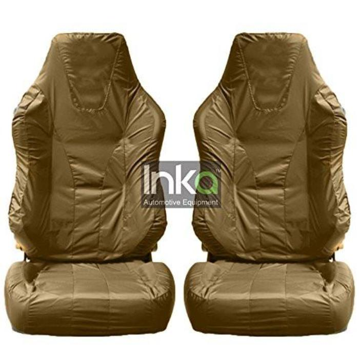Recaro Sportster Fully Tailored Inka Waterproof Front Single Set Seat Covers 2001 - 2015 Heavy Duty Right Hand Drive Beige- INK-WSC-7065
