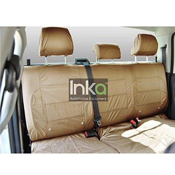 Isuzu D Max Rodeo Fully Tailored Waterproof Rear Second Row Triple Set Seat Covers MY01-2012 Onwards Heavy Duty Right Hand Drive Beige