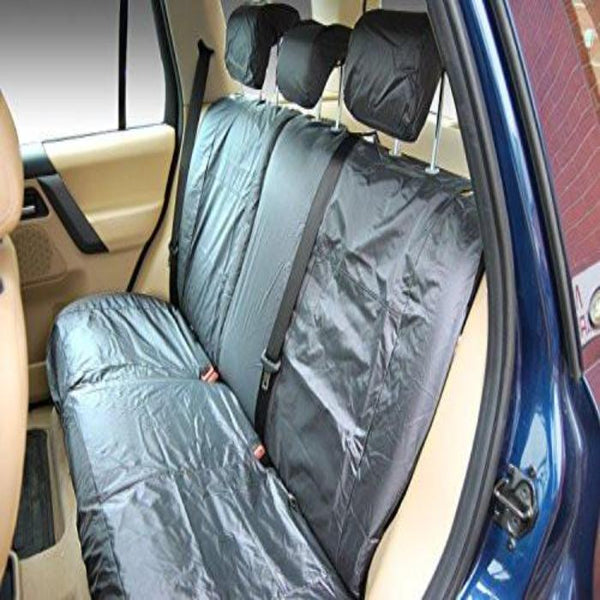 Skoda Superb Tailored Waterproof Rear Row Single And Double Set Seat Covers 2013 Onwards Heavy Duty Right Hand Drive Grey Includes Ski Hatch - INK-WSC-8077