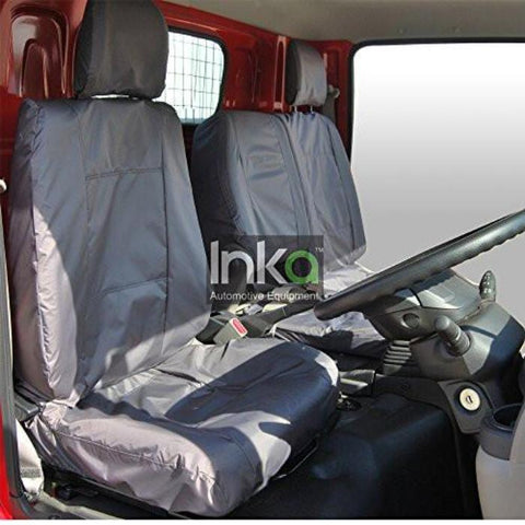 Nissan Cabstar MY 2014> tailored waterproof seat covers Front Driver and Double passenger in GREY