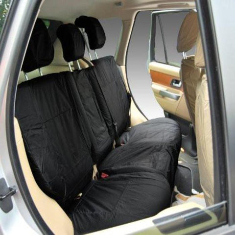 Land Rover Range Rover Fully Tailored Waterproof Rear Second Row Single and Double Set Seat Covers 2002-2012 Heavy Duty Right Hand Drive Black- INK-WSC-8028