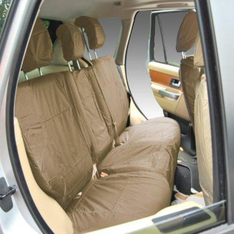 Land Rover Range Rover Sport Fully Tailored Waterproof Rear Second Row Single and Double Set Seat Covers 2013 Onwards Heavy Duty Right Hand Drive Beige- INK-WSC-7125