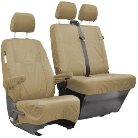 LDV Maxus Fully Tailored Waterproof Front Single Set Seat Covers 2004 Onwards Heavy Duty Right Hand Drive Beige