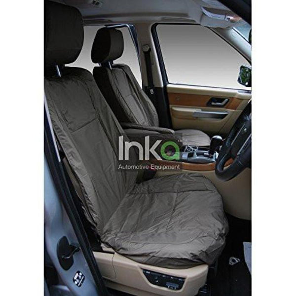 Range Rover Sport Front Seats With DVD Headrest Inka Fully Tailored Waterproof Seat Cover Grey 2005 - 2009