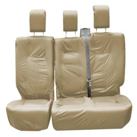 Land Rover Defender Crew Cab Fully Tailored Waterproof Second Row Set Seat Covers 2005 Onwards Heavy Duty Right Hand Drive Beige
